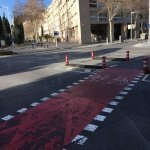 fahrradweg in Barcelona Stadt